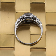 Deco Diamond Step Ring