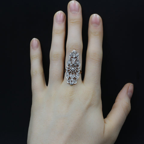 Belle Époque Knuckle-Duster Dinner Ring c1890