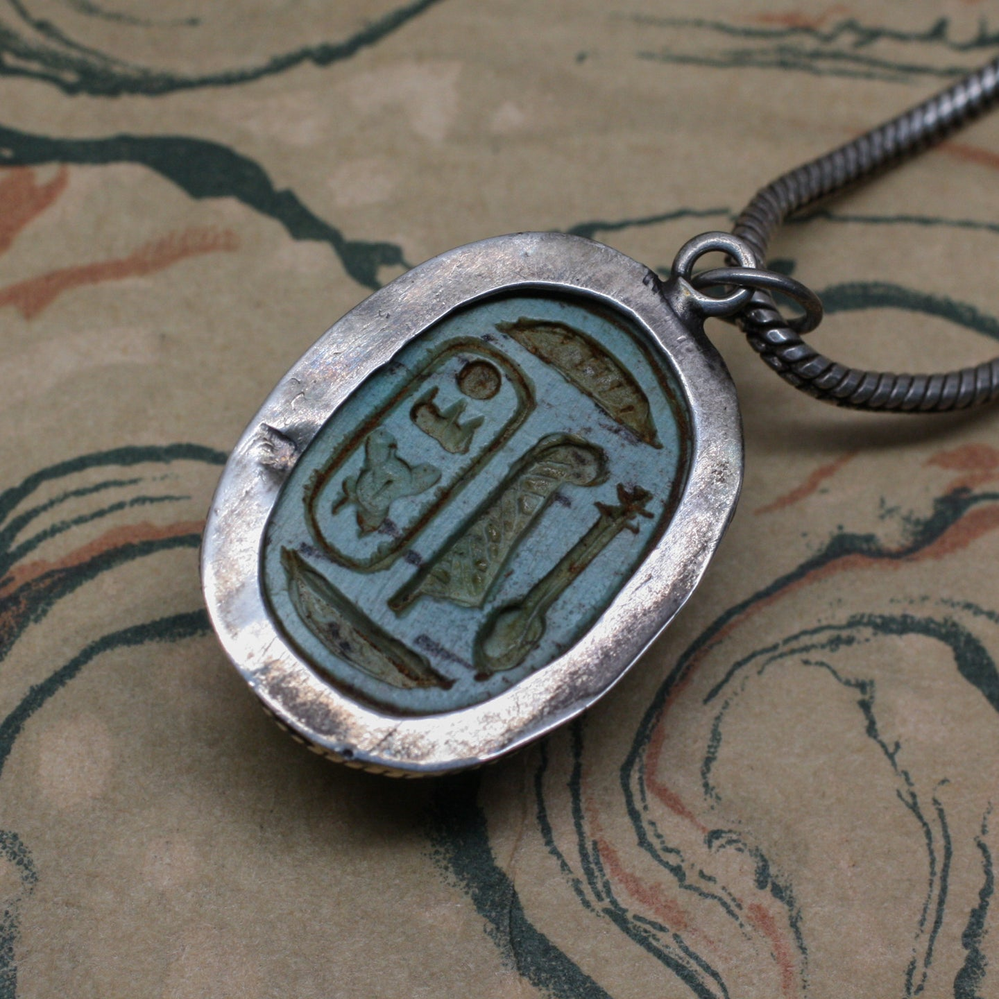 Ancient egyptian scarab pendant pippin vintage jewelry ancient egyptian scarab pendant ancient egyptian scarab pendant aloadofball Choice Image