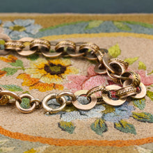 Retro Embellished Cable Link Bracelet c1940