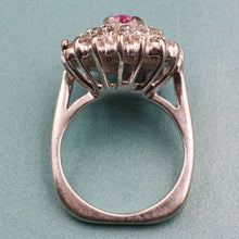 Hot Pink Sapphire Cocktail Ring, 1950s