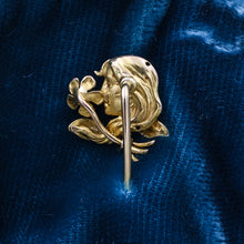 1890s Art Nouveau Enamel Stick Pin