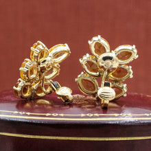 1930s 14k Citrine Frond Earrings