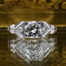 c1930 Handmade Deco Platinum .72 carat Diamond Ring