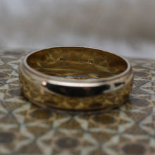 7mm Gold Band with Milgrain Edges