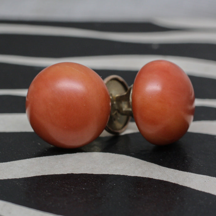 c1900 Coral Collar Buttons