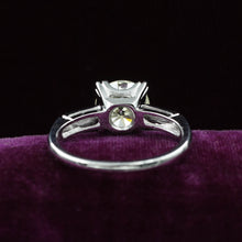 1940s Two Carat Fishtail Prong Solitaire