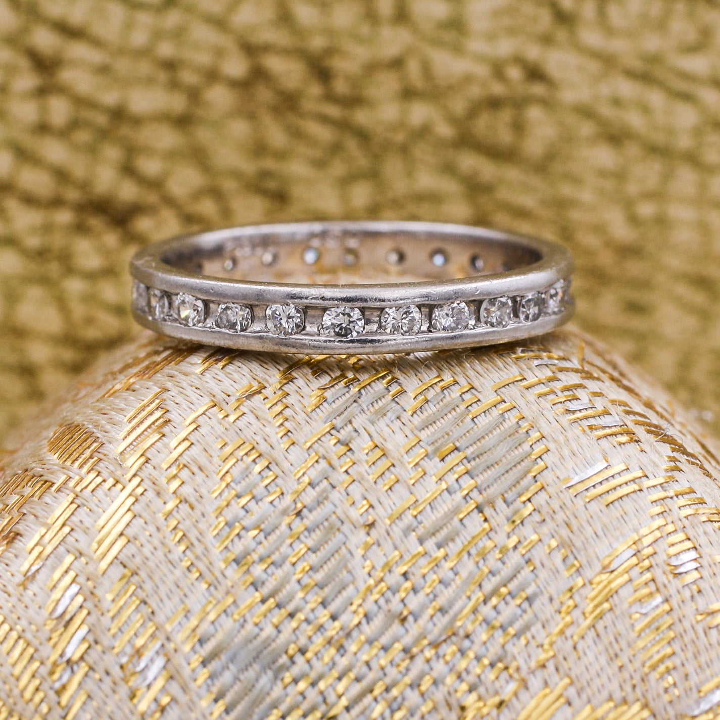 Midcentury Platinum Diamond Eternity Band