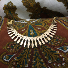 Gold Fringe Collar Necklace c1980