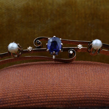 Untreated Burmese Sapphire Bangle c1910