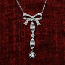 c1910 Belle Epoque Diamond Bow Necklace