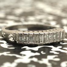 Circa 1950 Platinum Baguette Diamond Wedding Band