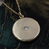 c1890 .50ct Old Mine Cut Diamond Locket