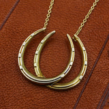 c1910 Double Horseshoe Pendant Necklace
