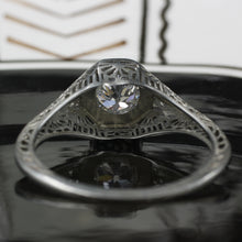 Old European Diamond Filigree Ring c1920