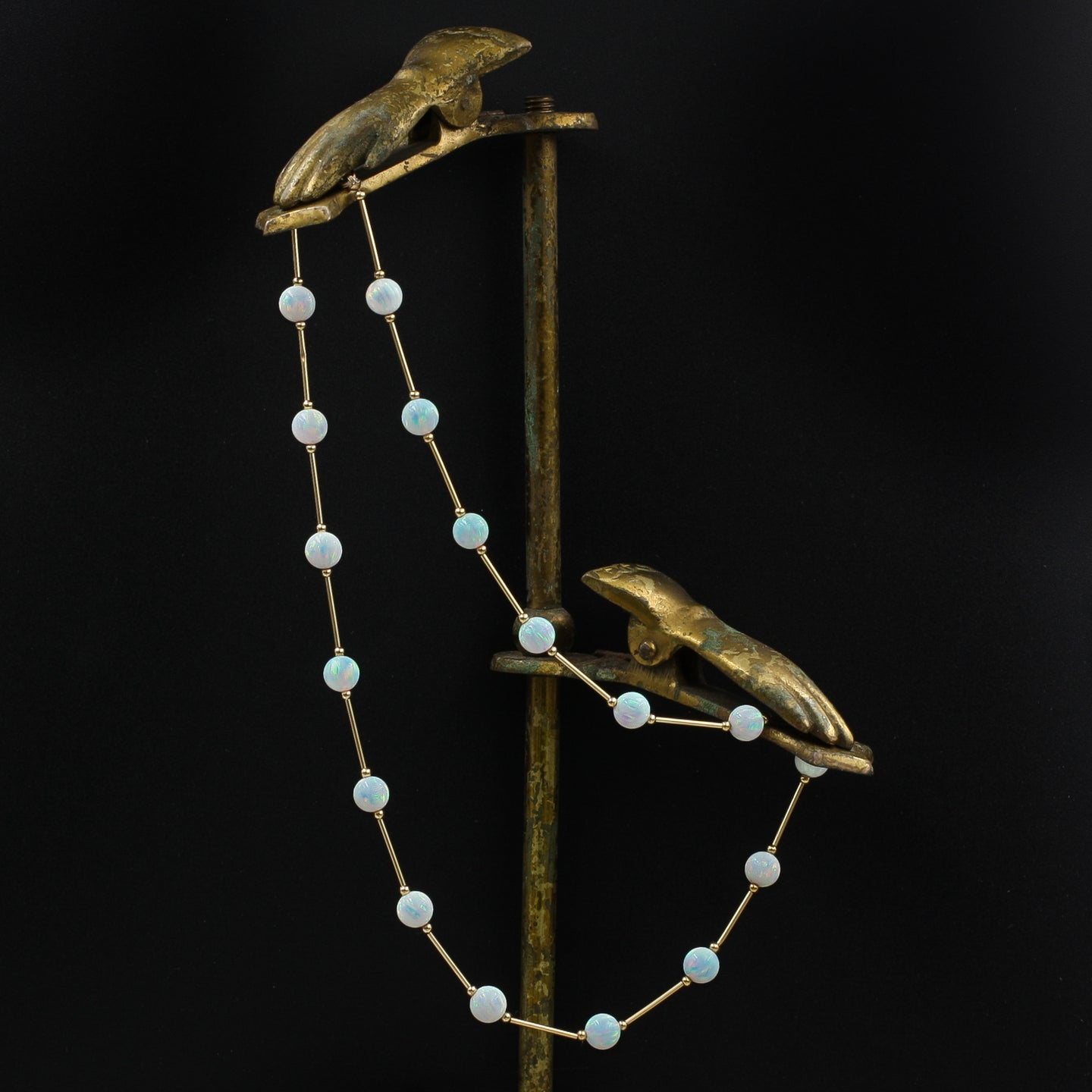 Fine Opal and Gold Collar Necklace c1980