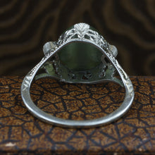 Cat's Eye Filigree Ring c1930