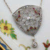 Edwardian Platinum Diamond and Ruby Necklace