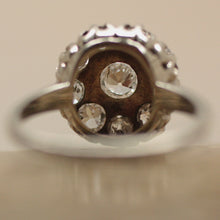 Antique 14K White Gold & Diamond Ring