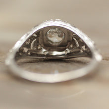 Circa 1920's White Gold & Diamond Filigree Ring