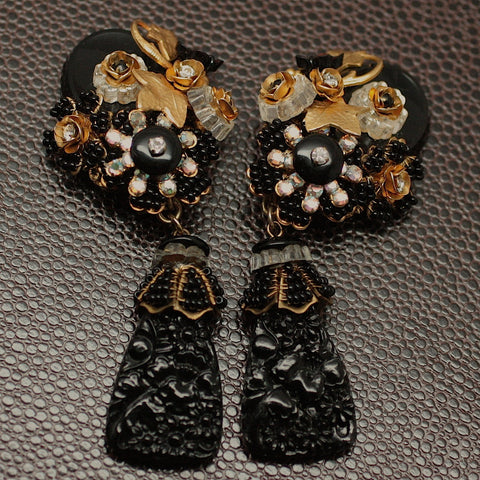 Circa 1980's Stanley Hagler Clip Earrings