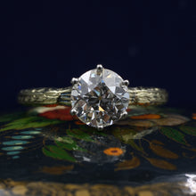 Old European Cut Diamond Solitaire c1910
