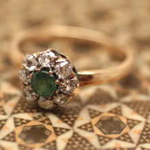 Victorian Emerald Doublet & Diamond Ring
