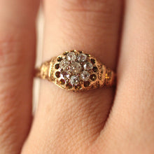 Circa 1870 Hand Carved Diamond Ring