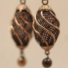 Antique Hair Tablework Pierced Earrings