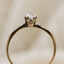 c1880 18k .28ct Old Mine Cut Diamond Ring