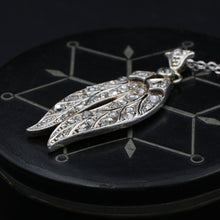 Rose Cut Diamond Feathers Pendant c1850