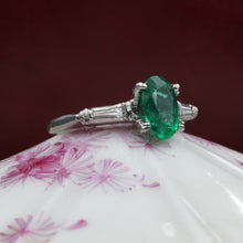 Colombian Emerald Platinum Ring c1950