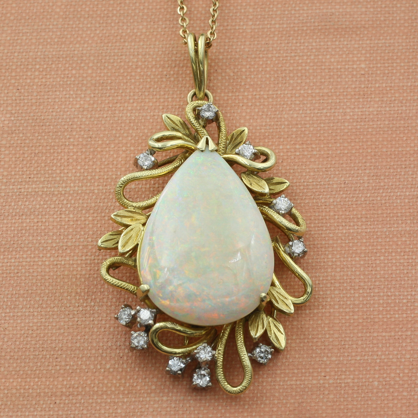 Opal and Diamond Pendant c1960