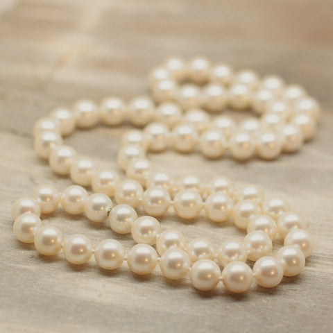 "Vintage 26"" Gem-Grade  Pearl Necklace"