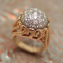 Circa 1950-1970 14K Diamond Cluster Ring