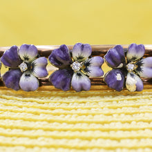 Art Nouveau Enamel Pansy Bangle