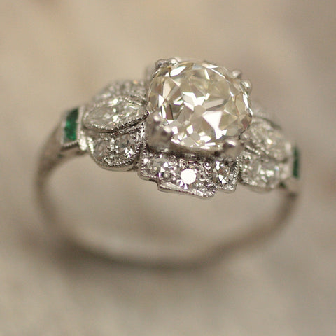 Circa 1920 2.10ct. Diamond Platinum Ring