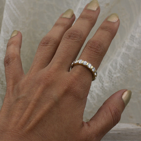 c1980 Three Carat Diamond Eternity Band