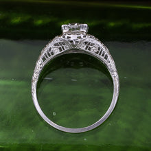 1920s 18k Filigree GIA Certified Diamond Solitaire