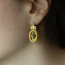 Victorian Persian Turquoise and Gold Dangle Earrings