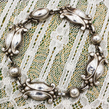 1933-44 Sterling Georg Jensen Moonlight Blossom Bracelet