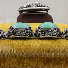 1920s-30s Chinese Export Jadeite and Silver Parure