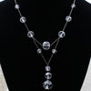 1930s Silver Crystal Necklace