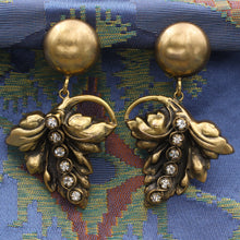 Midcentury Joseff of Hollywood Drop Leaf Earrings