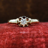 c1890 Fine Old Mine Cut Diamond Solitaire