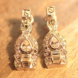 Circa 1940-1950 Platinum Diamond Earrings