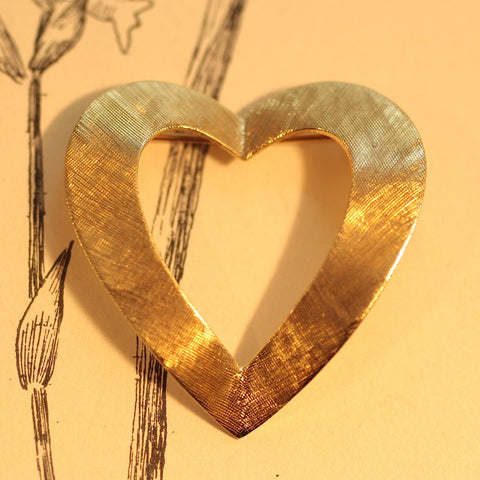 1937 Tiffany & Co 14K heart Brooch