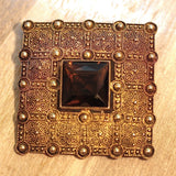 Circa 1930 Fahrner Sterling & Smoky Quartz Brooch