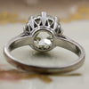 c1910 3.01ct Old European Cut Platinum Solitaire
