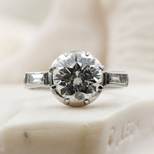 1940s Platinum Engagement Ring- Front View